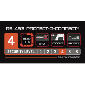 Trelock RS 453 Protect-O-Connect Cykellås NAZ ZR 20  svart